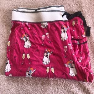 PJ Salvage French bulldog pajama pants